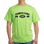 Pennsylvania 1787 Green T-Shirt