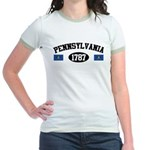 Pennsylvania 1787 Jr. Ringer T-Shirt