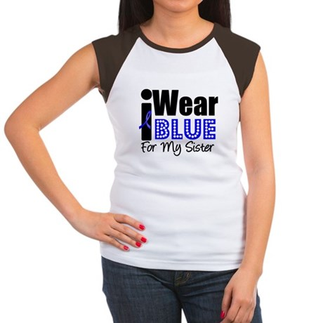I Wear Blue (Sister) Women's Cap Sleeve T-Shirt