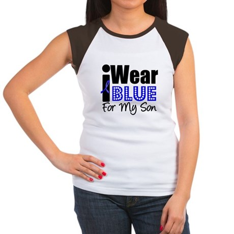 I Wear Blue (Son) Women's Cap Sleeve T-Shirt