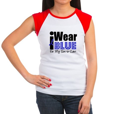 I Wear Blue (SIL) Women's Cap Sleeve T-Shirt