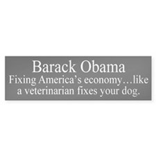 Obama Fixing Economy Bumper Bumper Sticker
