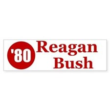 Reagan Bush Bumper Car Sticker