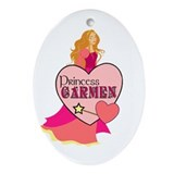 Princess Carmen Oval Ornament
