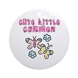 Cute Little Carmen Ornament (Round)