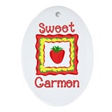 Sweet Carmen Oval Ornament