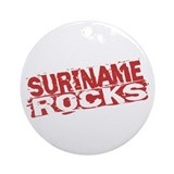 Suriname Rocks Ornament (Round)