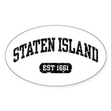Staten Island Est 1661 Oval Decal