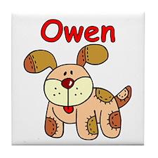 Owen Puppy Dog Tile Coaster