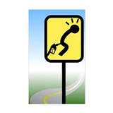 Ouch! Curve Sign Rectangle Decal