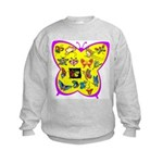 Butterflies Kids Sweatshirt