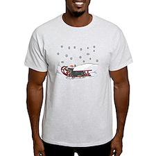 Sledding Dachshund T-Shirt