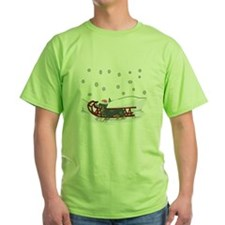 Sledding Dachshund T-Shirt