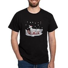 Sledding Dalmatian T-Shirt