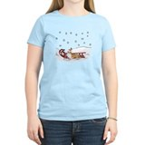 Sledding Welsh Corgi T-Shirt