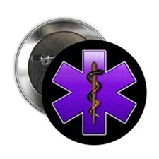 "Star of Life(Violet) 2.25"" Button (10 pack)"