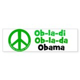 Green peace sign Obama bumper sticker