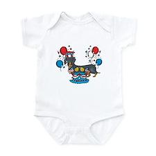 4th of July Dachshund Infant Bodysuit