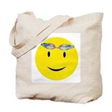 Swimmer Smiley Tote Bag
