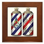 Barber shop quartet Mason Framed Tile