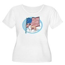 Patriotic St Bernard T-Shirt