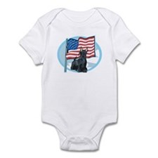 Patriotic Scottie Infant Bodysuit