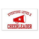 Everyone Loves a Cheerleader Rectangle Sticker