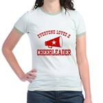 Everyone Loves a Cheerleader Jr. Ringer T-Shirt