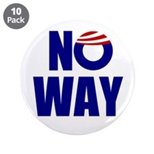 "No Way 3.5"" Button (10 pack)"