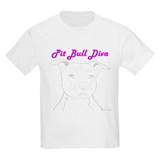 Pit Bull Diva  Kids T-Shirt