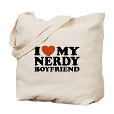 I Love My Nerdy Boyfriend Tote Bag