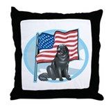 Patriotic Newfoundland Throw Pillow