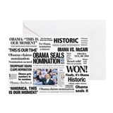 Obama Makes History Headline Greeting Card