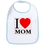 I Love Mom Bib