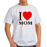 I Love Mom Ash Grey T-Shirt