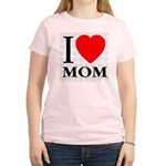 I Love Mom Women's Pink T-Shirt
