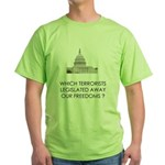 Which Terrorists? Green T-Shirt