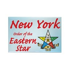 New York Eastern Star Rectangle Magnet (10 pack)