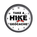 Geocache Hike Wall Clock