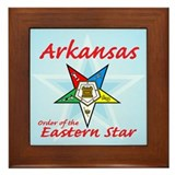 Arkansas Eastern Star Framed Tile