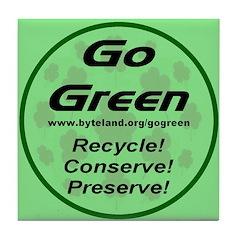 Go Green Style 2008 Tile Coaster