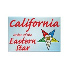 California Eastern Star Rectangle Magnet