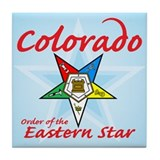Colorado Eastern Star Tile Coaster