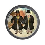 ROOSEVELT BEARS ON THE TOWN Wall Clock