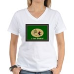 I Love Ducks Women's V-Neck T-Shirt