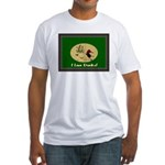 I Love Ducks Fitted T-Shirt