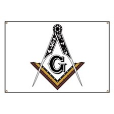 Masonic Square and Compass Banner