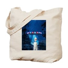 Forest Night UFO Visitation Tote Bag