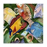 Tropical Fish School Tile Coaster