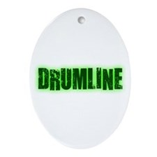 Drumline Green Oval Ornament